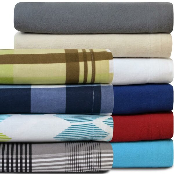 Super Soft 100% Cotton Flannel Sheet Set by Bare Home